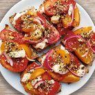 Canapés tomate, gorgonzola