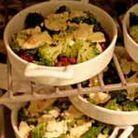 Cassolette d'haricots azukis aux brocolis et tomme crayeuse