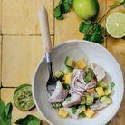 Ceviche de dorade, citron lime et mangue