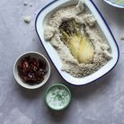 Fenouil en croûte de sel, crème aneth et noix de pécan caramélisées