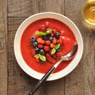Fruits rouges au basilic