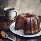Gâteau au café, sucre roux, miel et noix de pécan