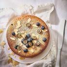 Gâteau moelleux aux amandes et myrtilles