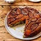 Gâteau renversé pommes-poires aux graines de courge et sésame