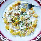 Gnocchis au potimarron, sauce Saint-Nectaire