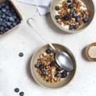 Granola au quinoa, fruits rouges