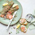 Gravlax de saumon aux algues