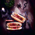 Hot-dog de doigts d'Halloween