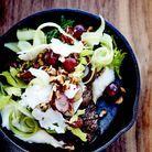 Joues de bœuf braisées, purée de chou-fleur et salade de céleri