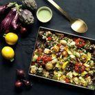 Légumes et feta rôtis