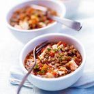 Lentilles à la tomate et au saumon