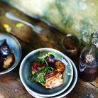 Magrets caramélisés aux figues et crème de cassis