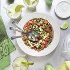 Margarita à l'avocat, salsa pastèque