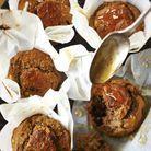 Muffins légers banane et fruits rouges