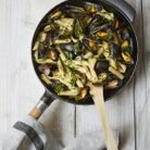 One pot pasta penne, moules et fines herbes