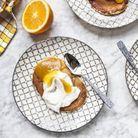 Pancakes pêches et orange