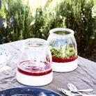 Pannacotta, coulis fraise-tomate, granité de basilic