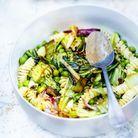 Pâtes aux légumes et au tahiné