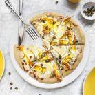 Pizza fleurs de courgette et citron