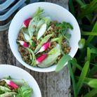Salade de blé, radis et navet