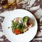 Salade de figues, jambon de Parme et mozzarella