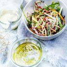 Salade sauce tahiné