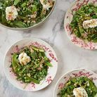 Salade toute verte et mozzarella