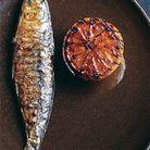 Sardines grillées, citrons grillés