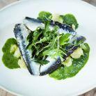 Sardines marinées, écrasées de pommes de terre au persil