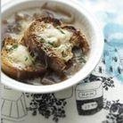 Soupe à l'oignon au cheddar