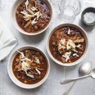 Soupe aux patates douces et haricots