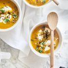 Soupe carottes rôties, tahini