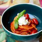Spaghetto Eataly tomate basilic stracciatella