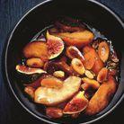 Tajine de pommes, figues et amandes