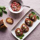Tartare boeuf, noisettes et parmesan