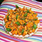 Tarte abricots, fruits de la passion et basilic de Christophe Michalak