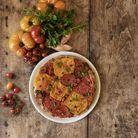 Tarte tatin tomates et échalotes