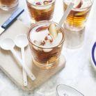 Thé glacé à la pêche et au gingembre