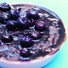 Gâteau chocolat-myrtilles