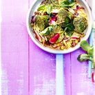 Filet mignon aux algues, vermicelles de potimarron, radis