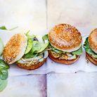 Burger veggie pois chiche champignon avoine