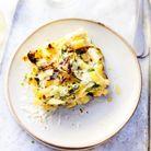 Gâteau de macaronis, épinards et gorgonzola