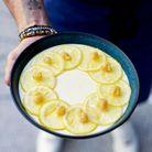 Panna cotta au chocolat blanc et compote de citron