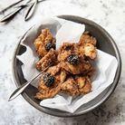 Poulet frit façon Core et caviar