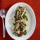 Salade de haricots et coeurs de canard