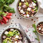 Salade de lentilles au chèvre et noisettes