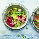 Salade petits pois et radis