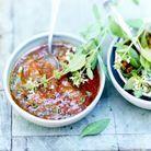 Soupe à la tomate, pesto rosso