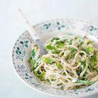 Spaghetti et courgettes à la brousse et à la menthe