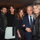 Jean Marc Fellous, Caroline Pois et Erin Doherty (ELLE), Alain Terzian et Katell Pouliquen (ELLE)